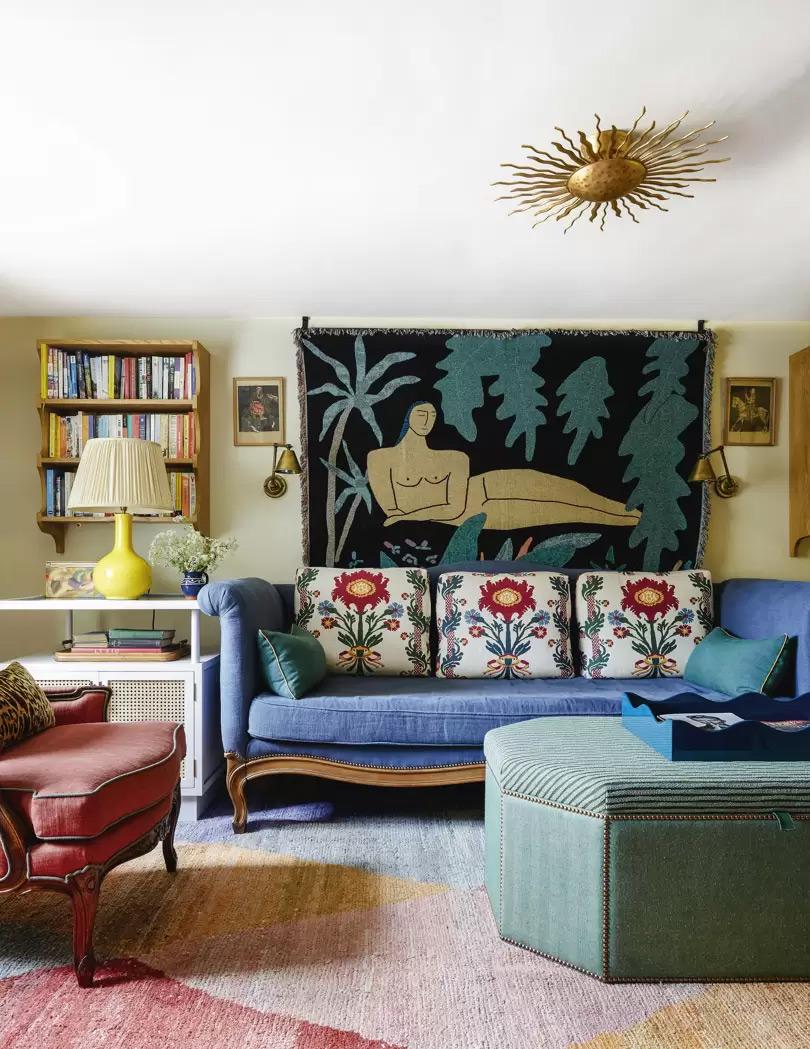 Design intérieur : Beata Heuman - Projet : Sussex cottage