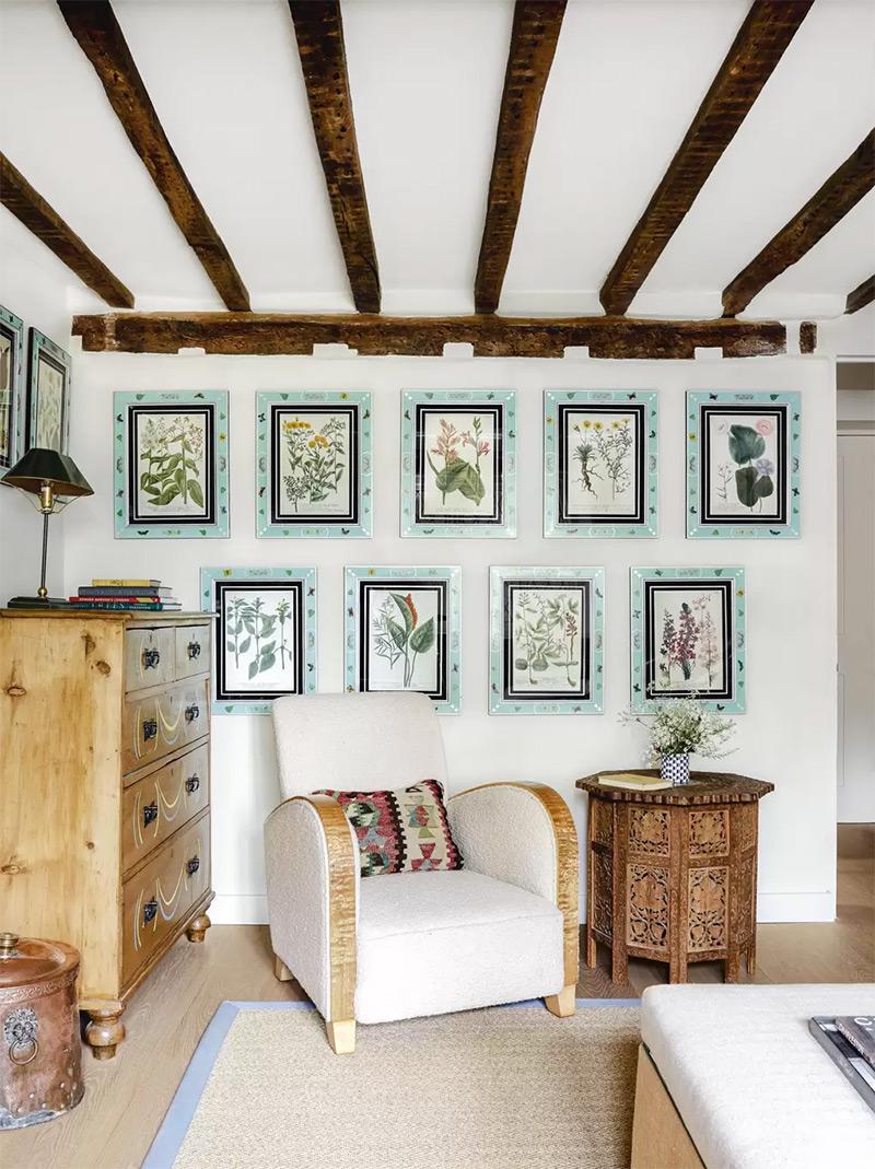 Design intérieur : Beata Heuman - Projet : Cottage Sussex