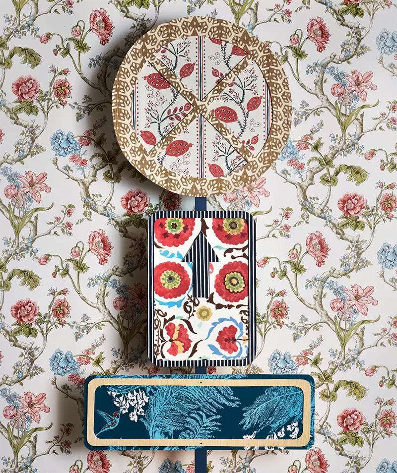Osez le mélange des motifs // Photo : Rachel Whiting pour House and Garden