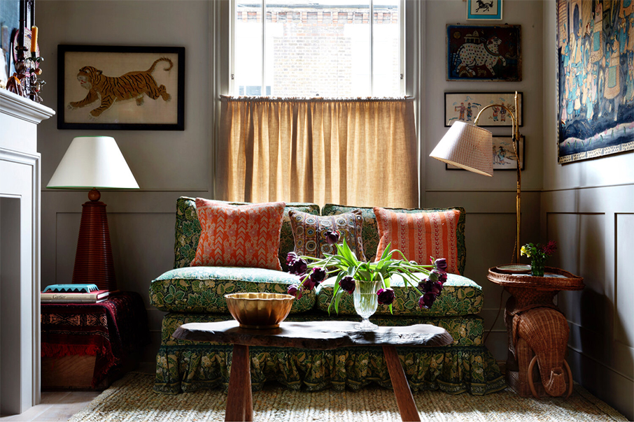 Osez le mélange des motifs // Design intérieur : Lonika Chande - Projet : Queen's Park, London