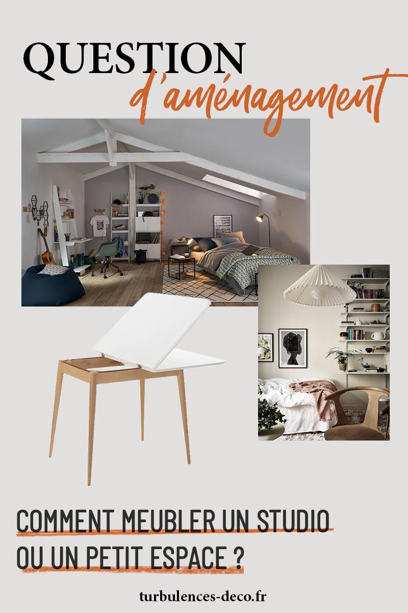 Comment meubler un studio ou un petit espace à retrouver sur Turbulences Déco