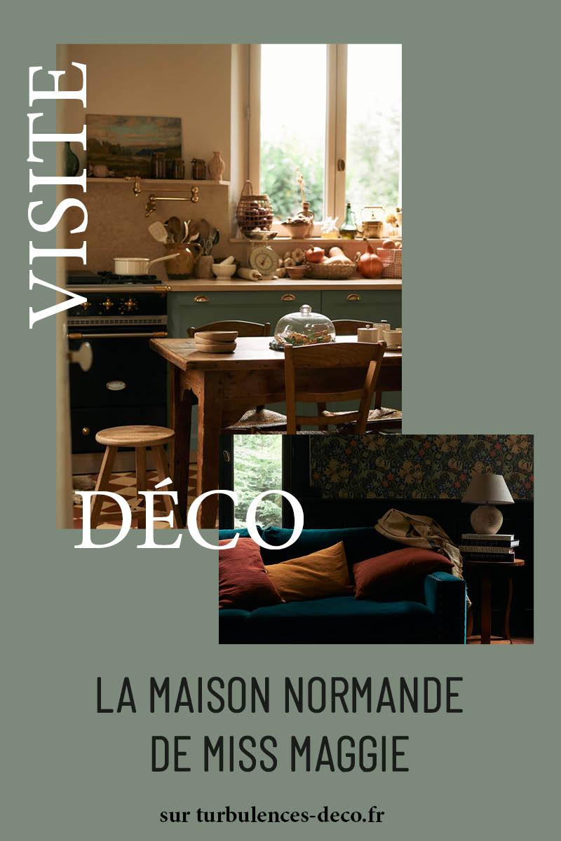 La maison normande de Miss Maggie, alias de Héloise Brion, blogueuse food à retrouver sur Turbulences Déco