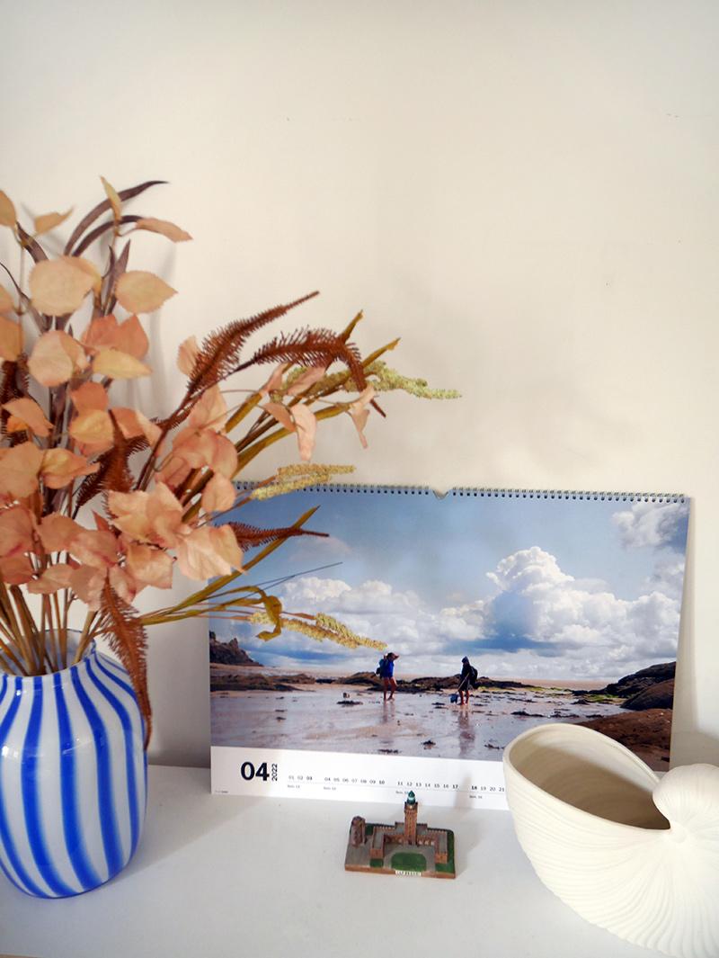 [ Turbulences Déco ] Un calendrier mural panoramique avec CEWE sur le thème du Cap Fréhel et ses alentours