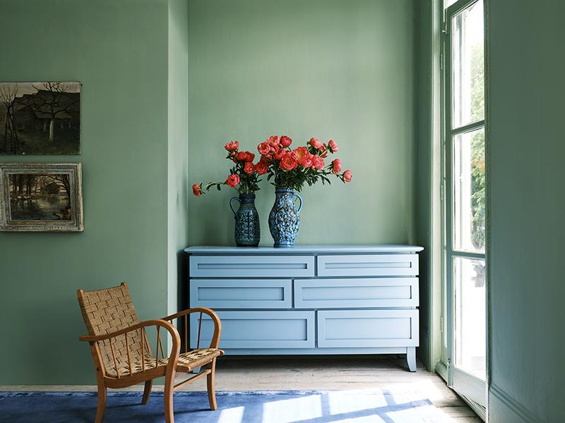 Farrow & Ball, Breakfast room green n°81