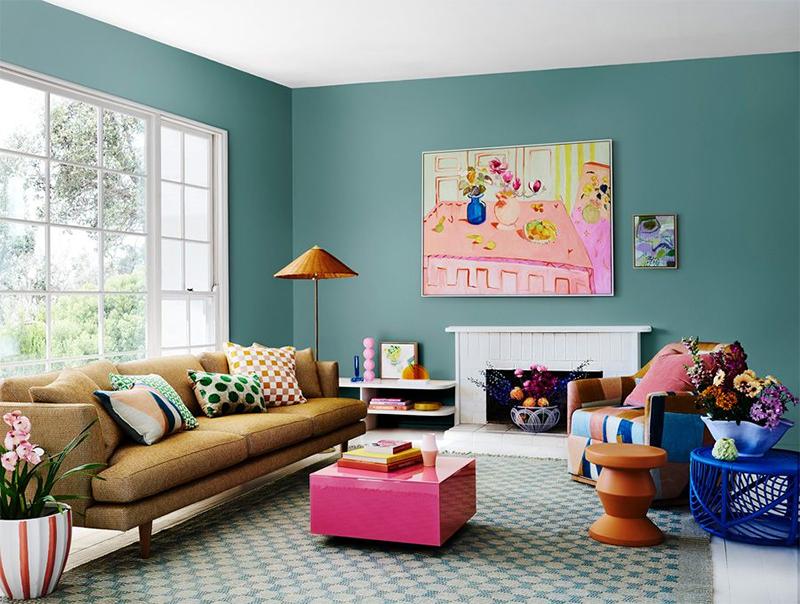 Collection couleurs Dulux - Palette Wonder - Association des teintes Edvard + Southern Alps